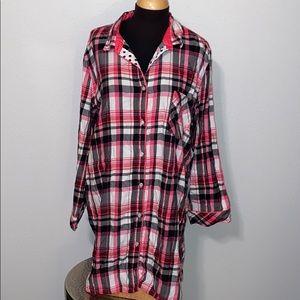 Victoria's Secret Flannel Sleep shirt size XL